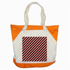 Diagonal Patriot Stripes Accent Tote Bag by StuffOrSomething