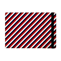 Diagonal Patriot Stripes Apple Ipad Mini Flip Case by StuffOrSomething
