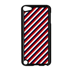 Diagonal Patriot Stripes Apple Ipod Touch 5 Case (black) by StuffOrSomething