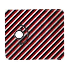 Diagonal Patriot Stripes Samsung Galaxy S  Iii Flip 360 Case by StuffOrSomething