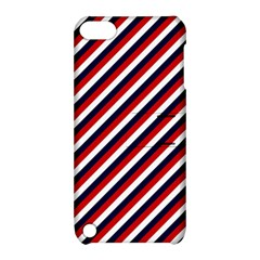 Diagonal Patriot Stripes Apple Ipod Touch 5 Hardshell Case With Stand by StuffOrSomething