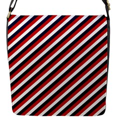 Diagonal Patriot Stripes Flap Closure Messenger Bag (small) by StuffOrSomething