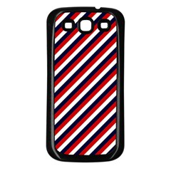 Diagonal Patriot Stripes Samsung Galaxy S3 Back Case (black) by StuffOrSomething