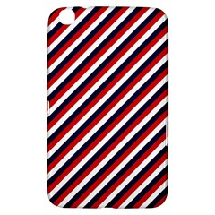 Diagonal Patriot Stripes Samsung Galaxy Tab 3 (8 ) T3100 Hardshell Case