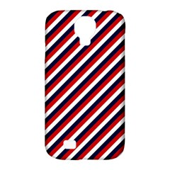 Diagonal Patriot Stripes Samsung Galaxy S4 Classic Hardshell Case (pc+silicone) by StuffOrSomething