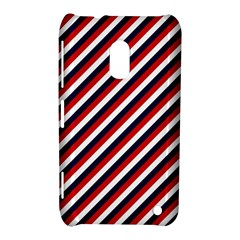Diagonal Patriot Stripes Nokia Lumia 620 Hardshell Case