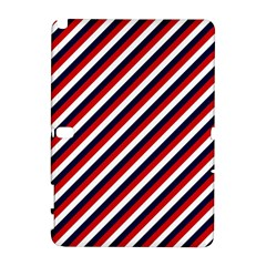 Diagonal Patriot Stripes Samsung Galaxy Note 10 1 (p600) Hardshell Case by StuffOrSomething