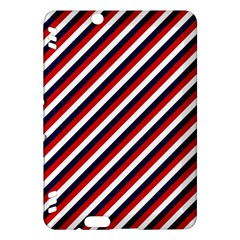 Diagonal Patriot Stripes Kindle Fire Hdx 7  Hardshell Case by StuffOrSomething