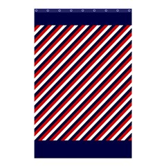 Diagonal Patriot Stripes Shower Curtain 48  X 72  (small) by StuffOrSomething