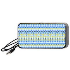 20140321 artistic spring (blue) Portable Speaker (Black)