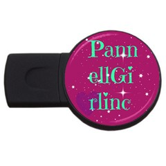 Pannellgirlinc 4gb Usb Flash Drive (round) by Pannellgirlinc