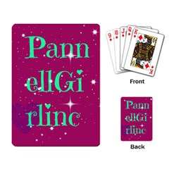 Pannellgirlinc Playing Cards Single Design by Pannellgirlinc