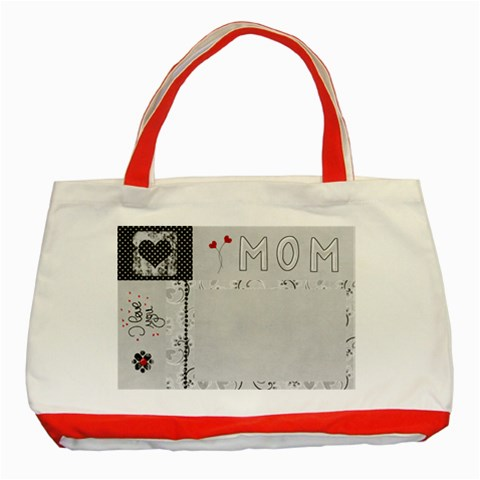 Classic Tote Bag Red By Deca   Classic Tote Bag (red)   M7qq70lmhqmi   Www Artscow Com Front