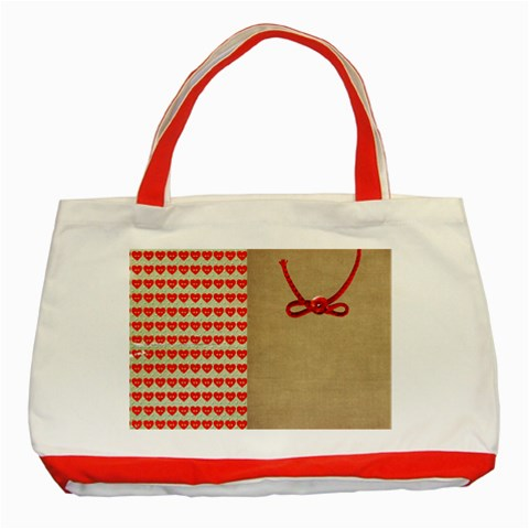 Classic Tote Bag By Deca   Classic Tote Bag (red)   9e991zvz6ij9   Www Artscow Com Front