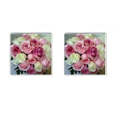 Tapestry Wedding Bouquet Cufflinks (square) by Khoncepts