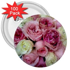 Tapestry Wedding Bouquet 3  Button (100 pack) by Khoncepts