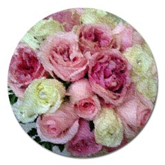 Tapestry Wedding Bouquet Magnet 5  (round) by Khoncepts