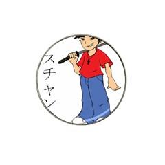 Christian Samurai Boy Hat Clip Ball Marker (4 pack) by inkseeds