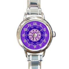 Sarah Round Italian Charm Watch by Rbrendes
