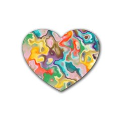 Marble Drink Coasters 4 Pack (heart)