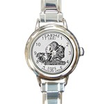 Kansas Round Italian Charm Watch