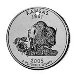 Kansas Ornament (Round)