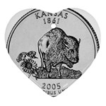 Kansas Ornament (Heart)