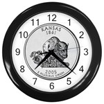 Kansas Wall Clock (Black)
