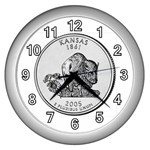Kansas Wall Clock (Silver)