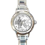 Massachusetts Round Italian Charm Watch