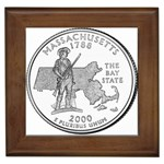 Massachusetts Framed Tile