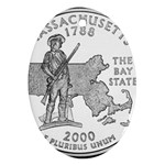 Massachusetts Ornament (Oval)