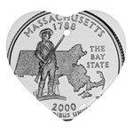 Massachusetts Ornament (Heart)