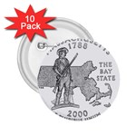 Massachusetts 2.25  Button (10 pack)