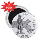 Massachusetts 2.25  Magnet (10 pack)