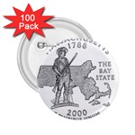 Massachusetts 2.25  Button (100 pack)