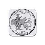 Massachusetts Rubber Square Coaster (4 pack)