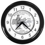 Massachusetts Wall Clock (Black)