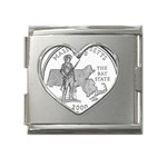 Massachusetts Mega Link Heart Italian Charm (18mm)