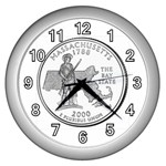 Massachusetts Wall Clock (Silver)
