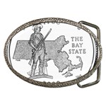 Massachusetts Belt Buckle