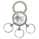Massachusetts 3-Ring Key Chain
