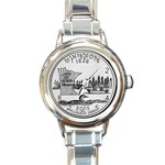 Minnesota Round Italian Charm Watch