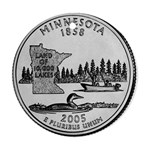 Minnesota Ornament (Round)