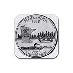 Minnesota Rubber Square Coaster (4 pack)