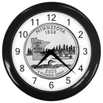 Minnesota Wall Clock (Black)