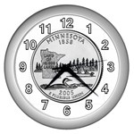 Minnesota Wall Clock (Silver)