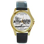 Minnesota Round Gold Metal Watch