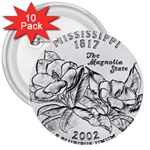 Mississippi 3  Button (10 pack)