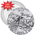 Mississippi 3  Button (100 pack)